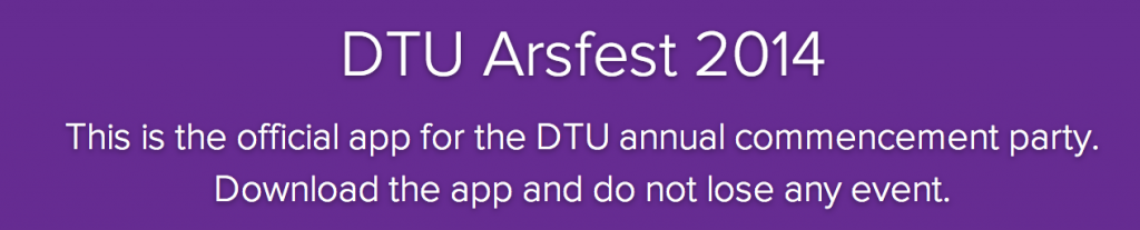 DTU Annual Party app